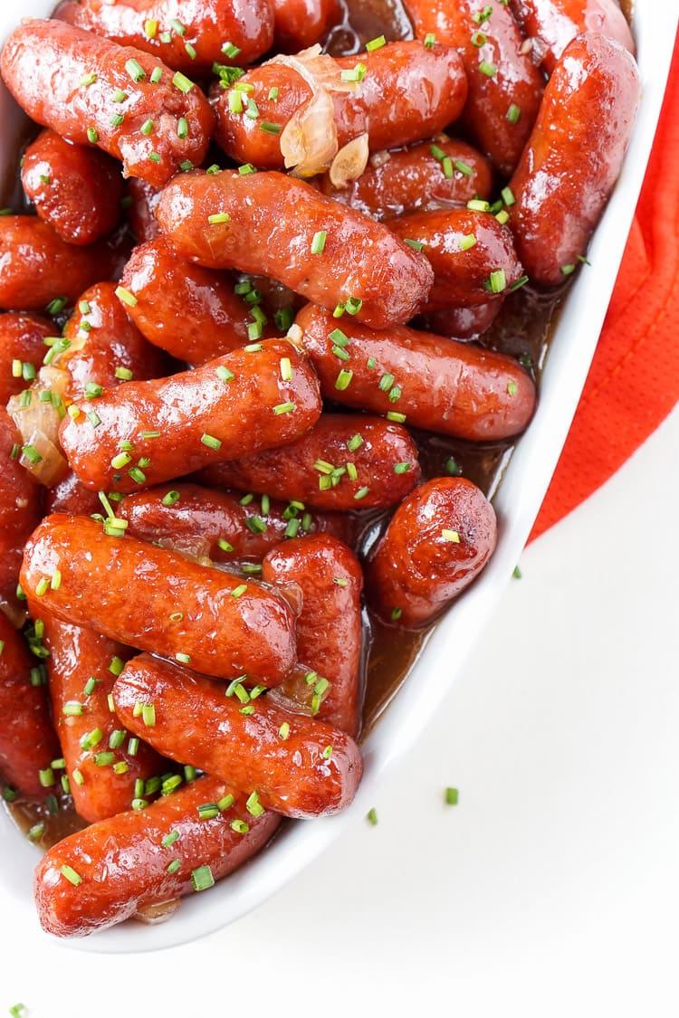 Spicy Blood Orange Lit'l Smokies Sausages appetizer