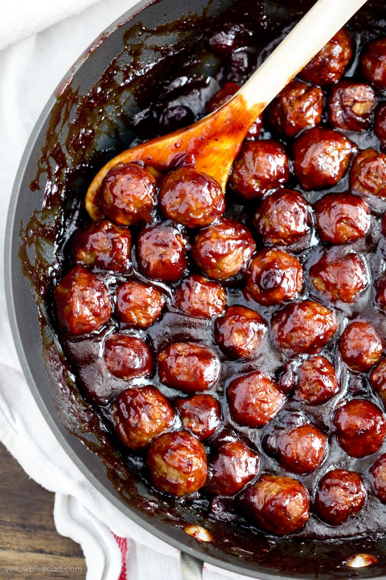 Spicy Cranberry Orange Meatballs appetizer