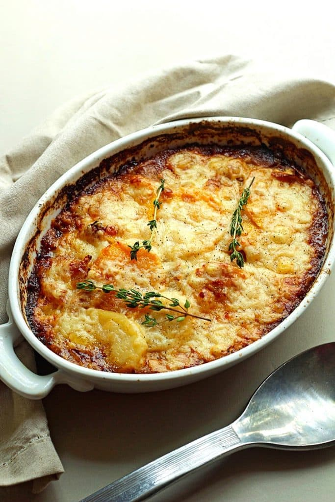 POTATO AND SQUASH GRATIN
