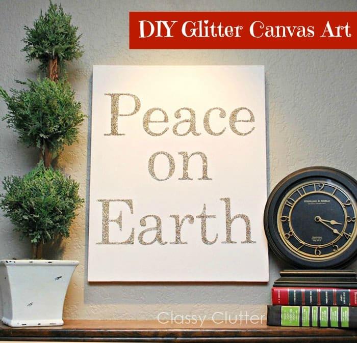 DIY GLITTER CANVAS ART