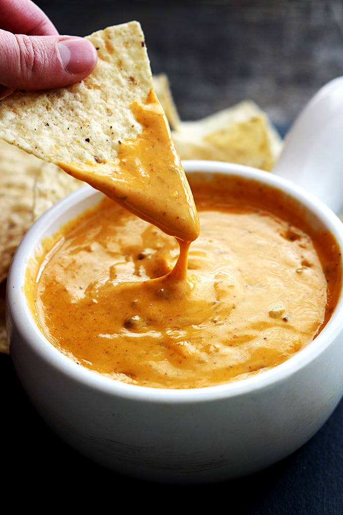 Chili's Con Queso Dip cheese dip with tortilla chips