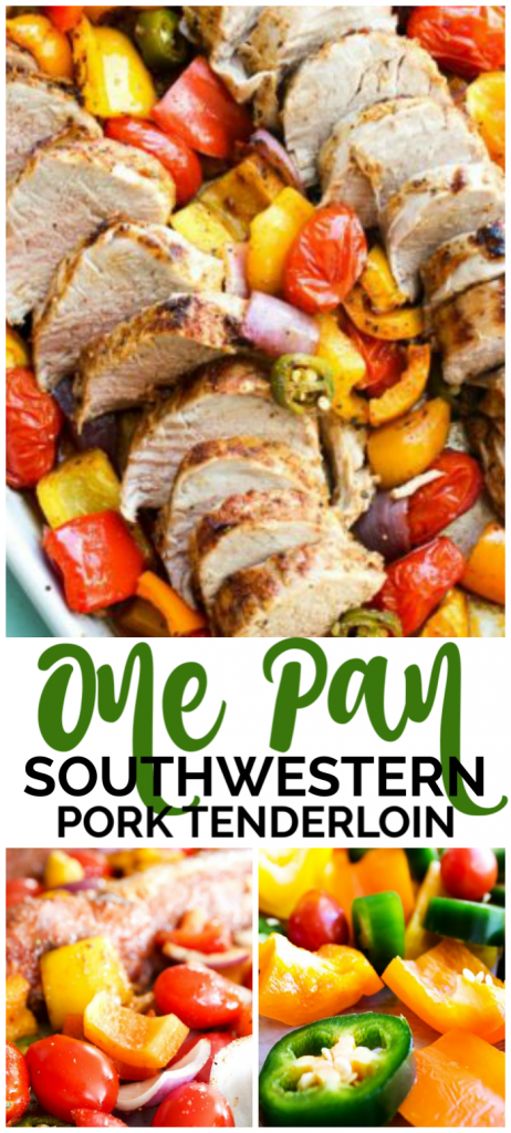One Pan Southwestern Pork Tenderloin is full of bold flavors. Simple, gorgeous, and delicious, this is the perfect meal to serve this holiday season.