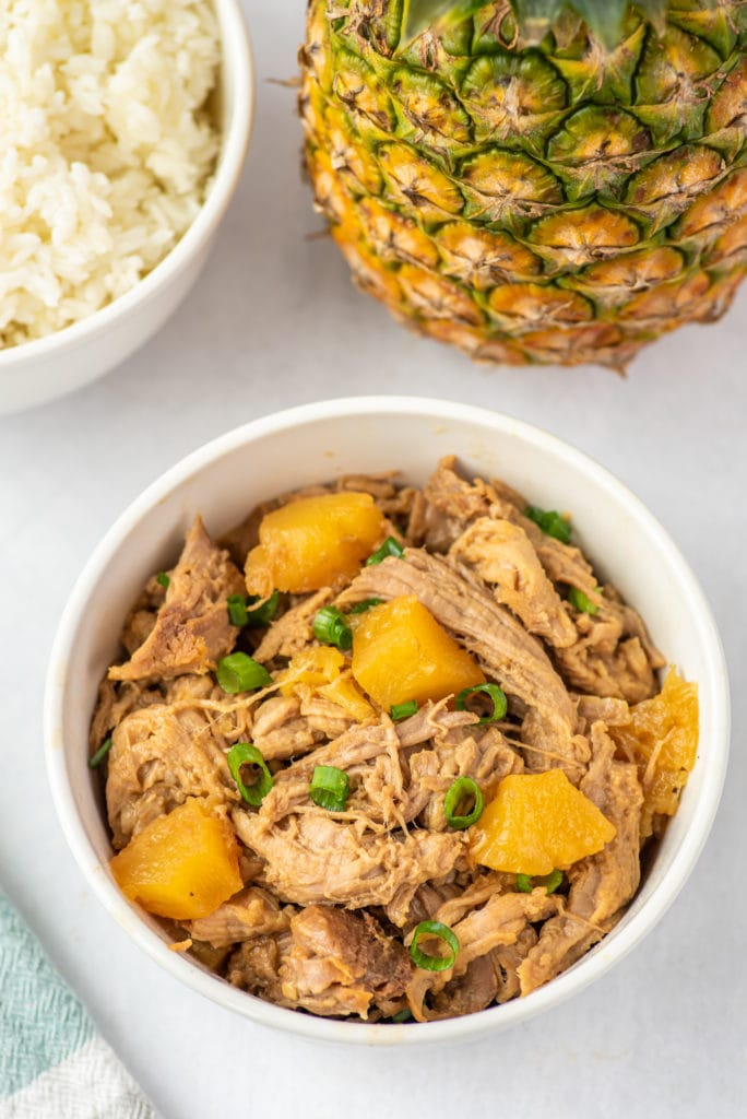 photo of a bowl of pineapple pork