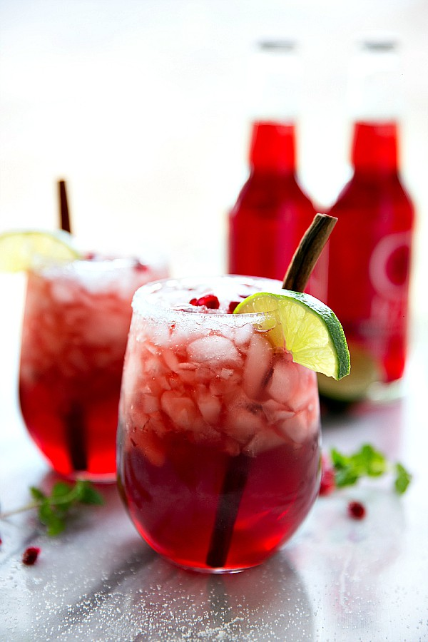 SPARKLING CRANBERRY POMEGRANATE DRINK