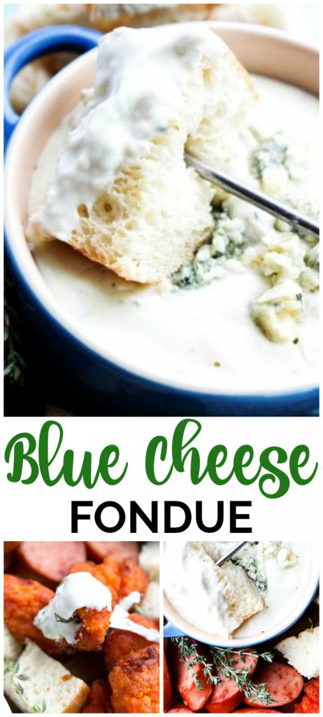 Blue cheese fondue pinterest image