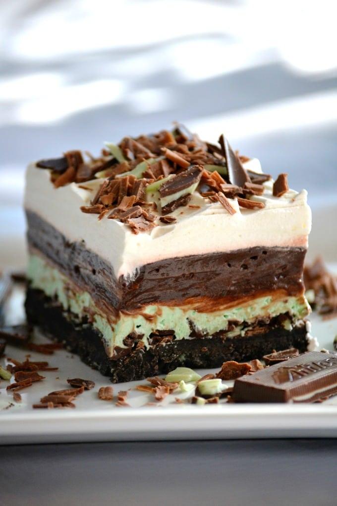 Chocolate Mint Dream Bars