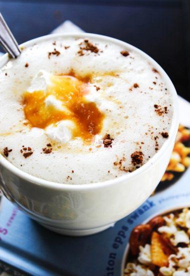 Slow Cooker Sea Salt Caramel Hot Chocolate