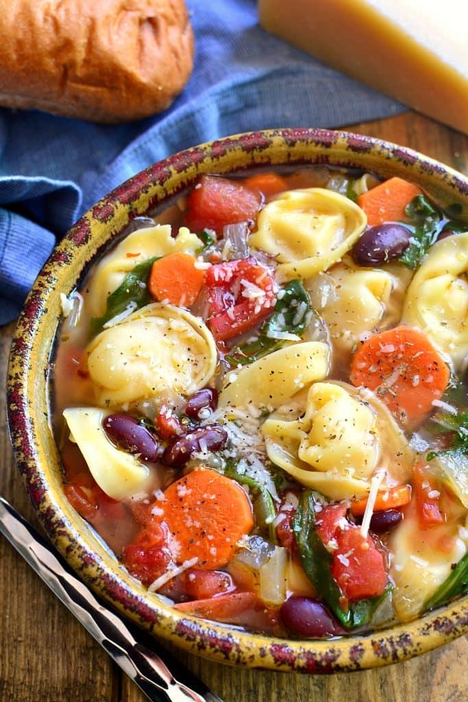 Tortellini Minestrone Soup