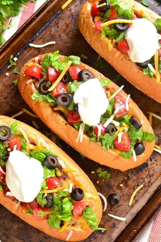 French Bread Tacos