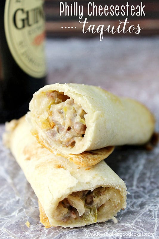 Philly Cheesesteak Taquitos