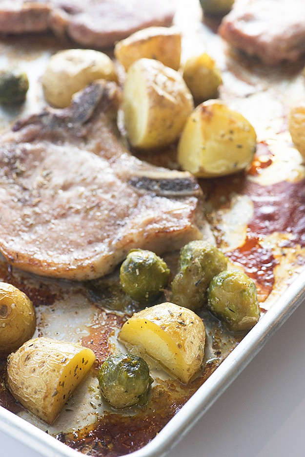 Sheet Pan Pork Chops and Potatoes