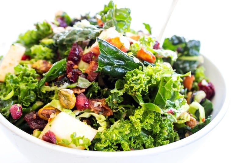 Winter Kale Super Salad | 17 Healthy Winter Salad Recipes To Beat Weight Gain