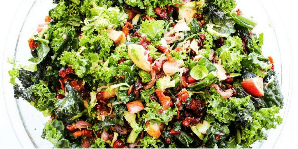 WINTER KALE SUPER SALAD - a gorgeous salad is perfect for the holidays. Full of nutrients, amazing flavor & makes enough to feed a crowd.