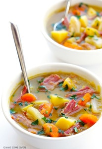 SLOW COOKER CORN BEEF AND CABBAGE SOUP