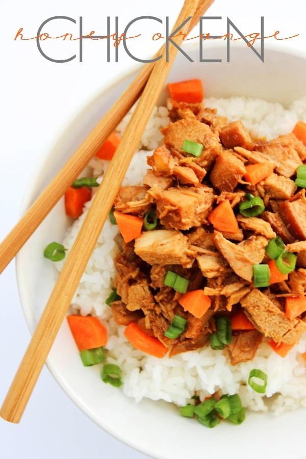 SLOW COOKER HONEY ORANGE CHICKEN
