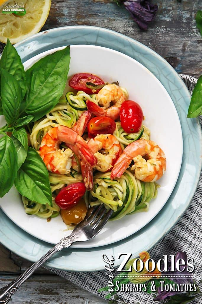 ZOODLES WITH SHRIMP AND TOMATOES