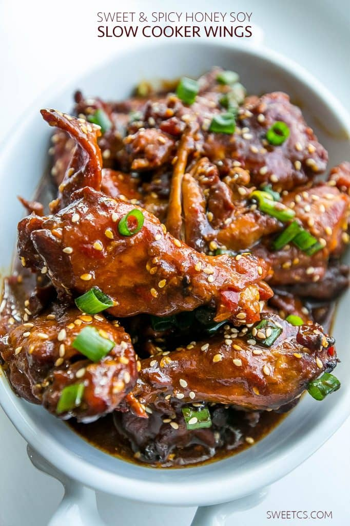 SLOW COOKER HONEY SOY CHICKEN WINGS