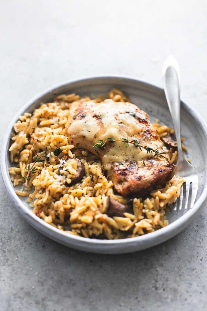 SLOW COOKER PARMESAN HERB CHICKEN ORZO