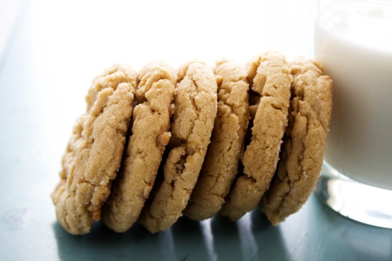 Best Ever Soft Peanut Butter Cookies horizontal stack