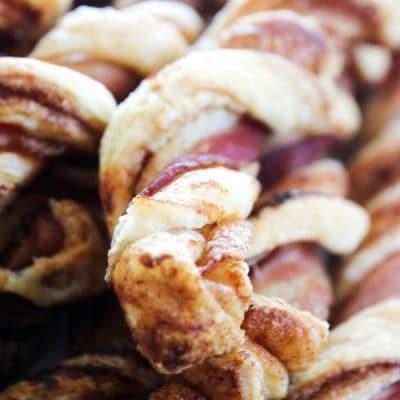 Crispy Bacon Cinnamon Roll Twists