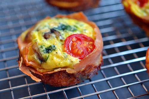 PROSCIUTTO-WRAPPED MINI FRITTATA MUFFINS