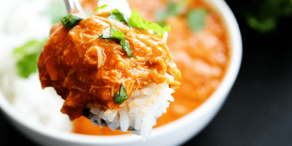 HEALTHY SLOW COOKER TIKKA MASALA spoonful