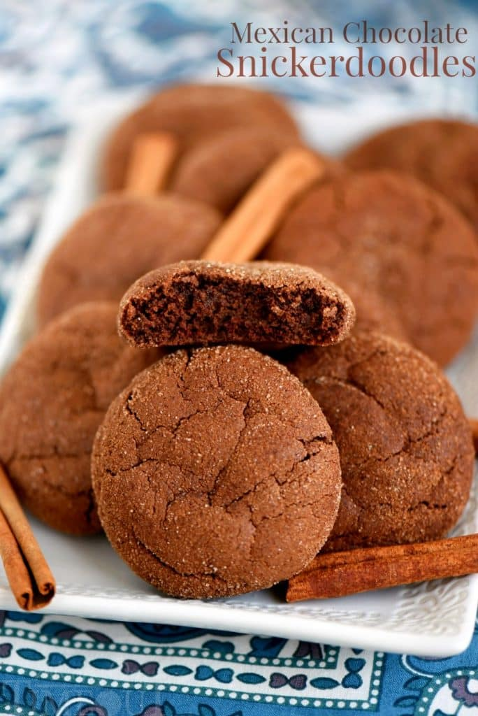 Mexican Chocolate Snickerdoodle Cookies