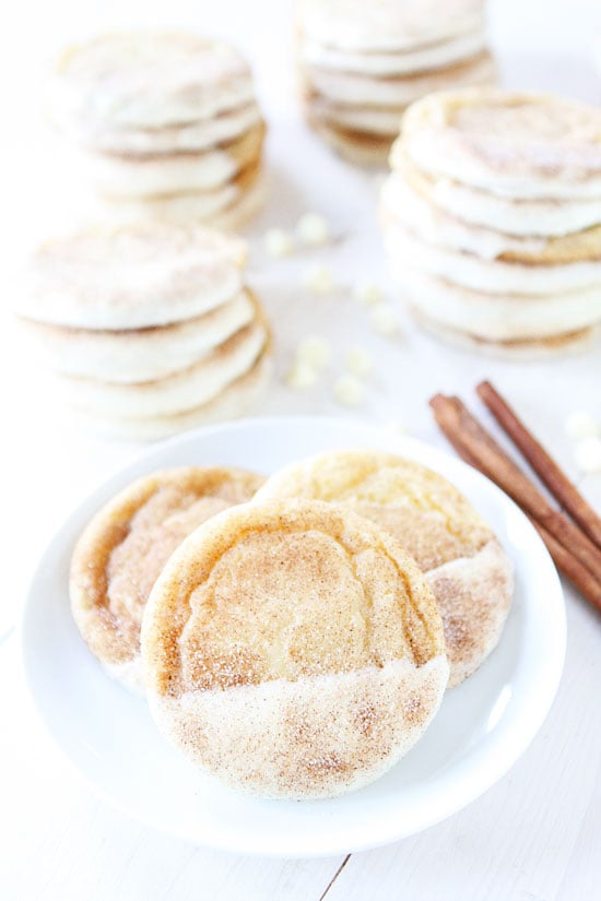 White Chocolate Dipped Snickerdoodles