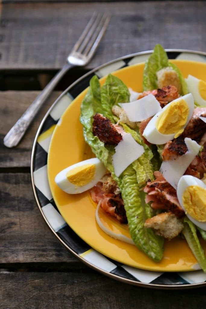 http://www.foodiewithfamily.com/blackened-salmon-caesar-salad/