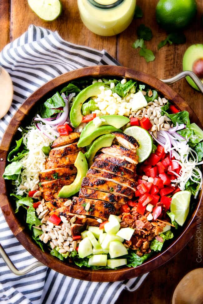 CHIPOTLE CHICKEN SALAD WITH HONEY LIME MANGO DRESSING