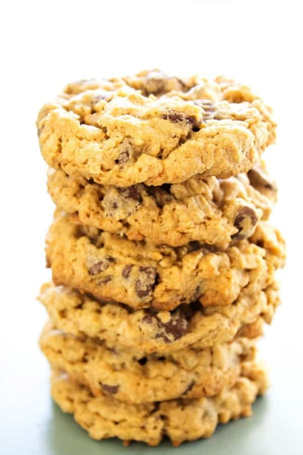 Chewy Oatmeal Peanut Butter Chocolate Chip Cookies A Dash Of Sanity