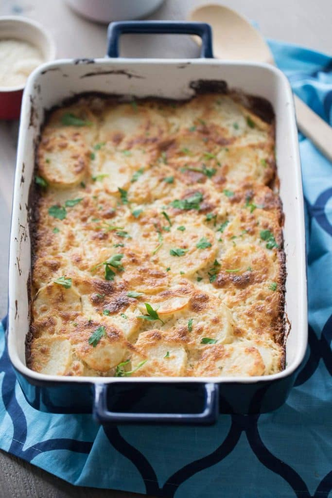 SCALLOPED POTATOES WITH BOURSIN CHEESE
