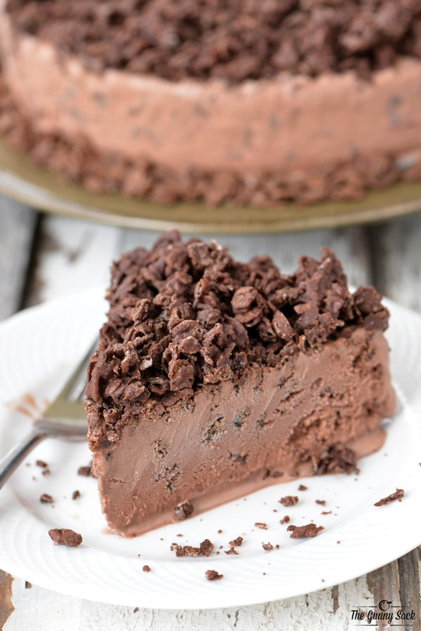CHOCOLATE CRUNCH ICE CREAM CAKE