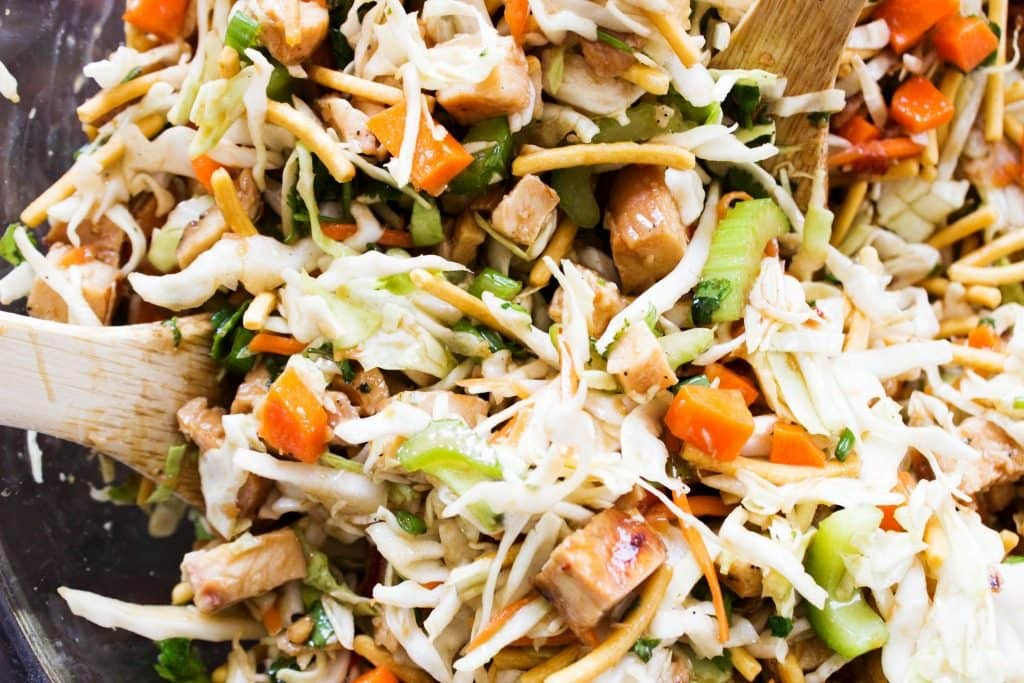 Chopped Asian Salad detail