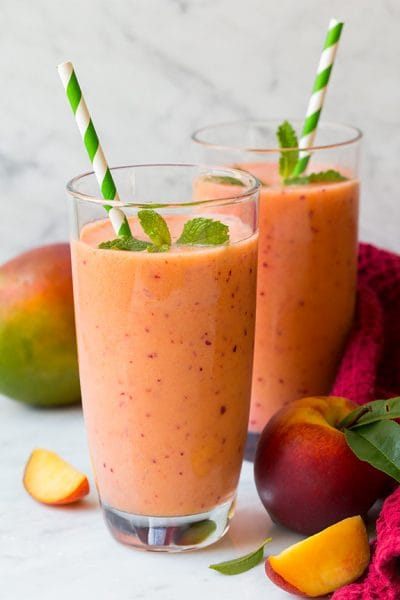 MANGO PEACH STRAWBERRY SMOOTHIE