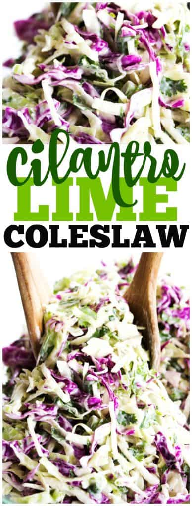coleslaw, cilantro, lime, wooden spoons, red cabbage, green cabbage