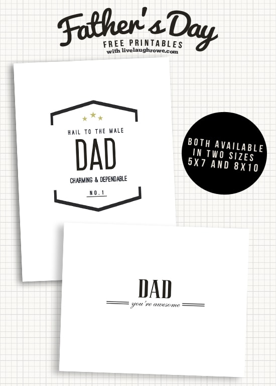 Classic Father's Day Printable Cards