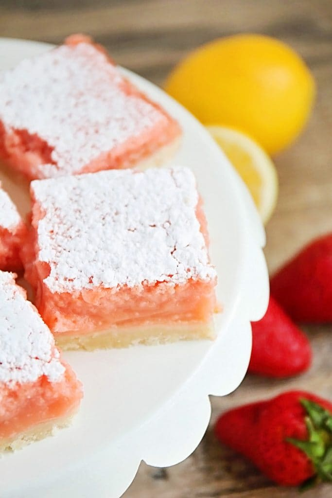 STRAWBERRY LEMONADE BARS