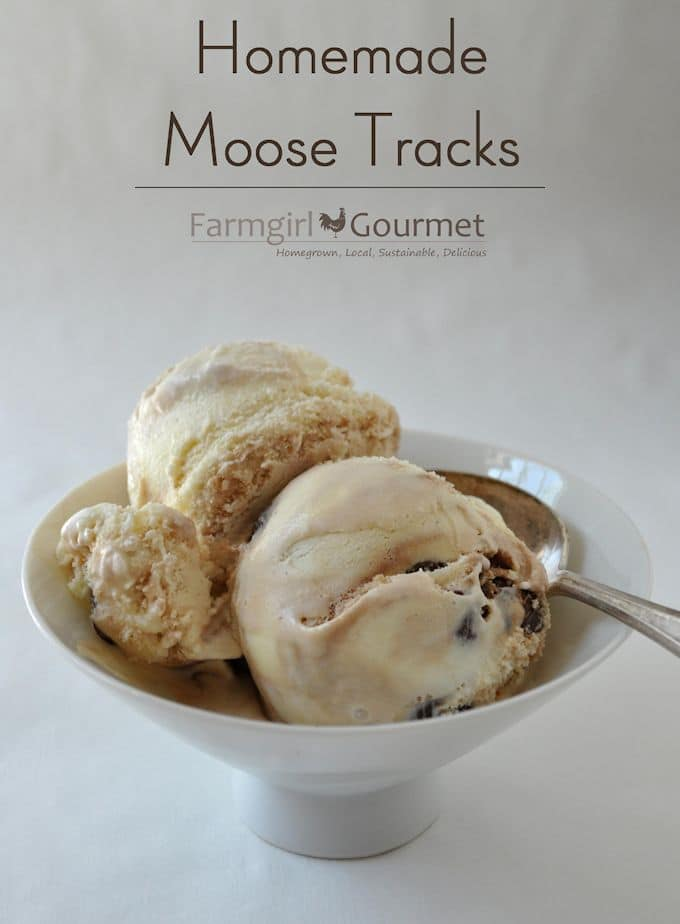 HOMEMADE MOOSE TRACKS ICE CREAM
