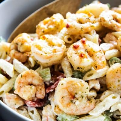 SHRIMP SCAMPI PASTA SALAD