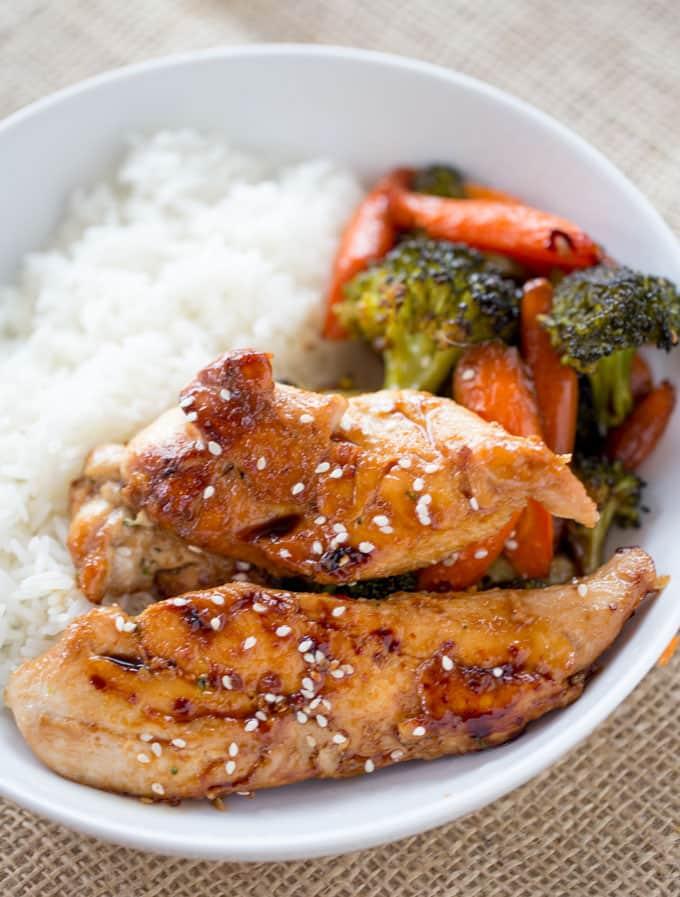 SHEET PAN KOREAN CHICKEN & VEGETABLES