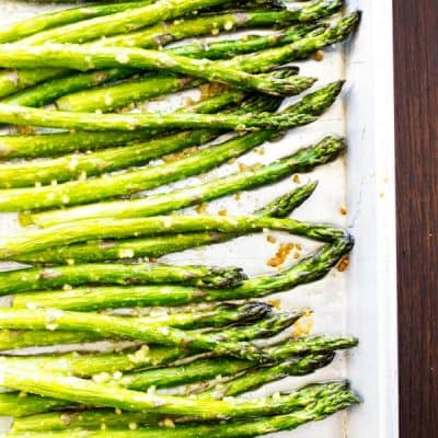 EASY OVEN ROASTED GARLIC ASPARAGUS