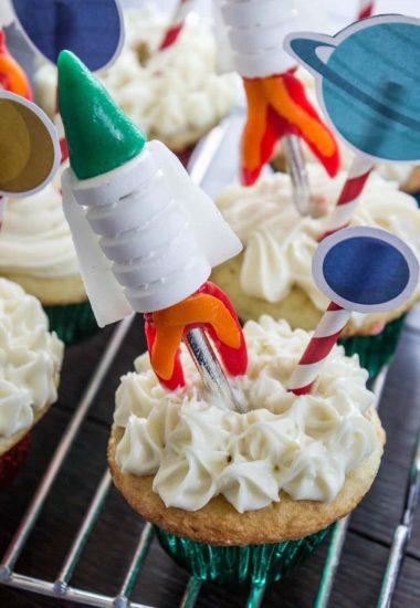 Easy Rocket Cupcakes