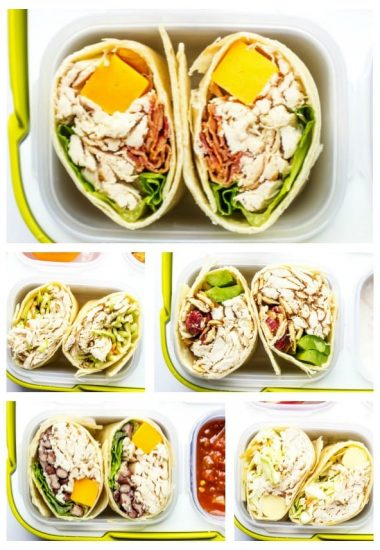 EASY LUNCHBOX IDEAS: CHICKEN SANDWICH WRAPS