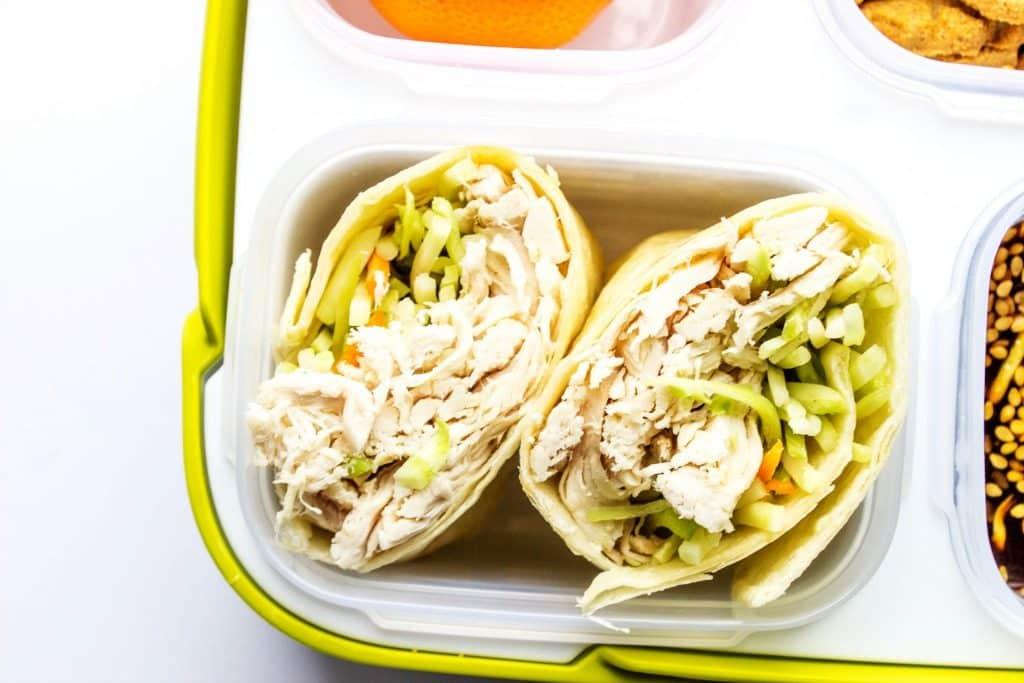 easy lunchbox ideas chicken sandwich wraps a dash of sanity