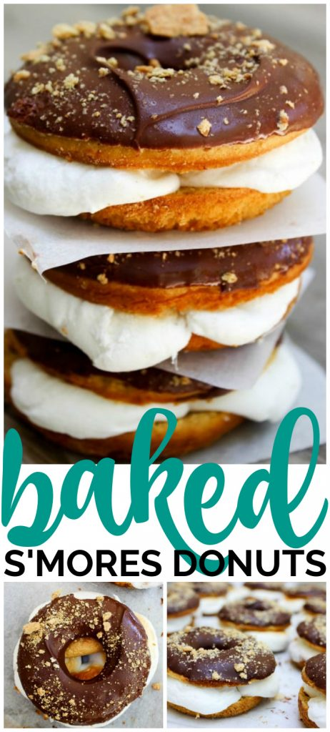 Baked S'mores Donuts pinterest image