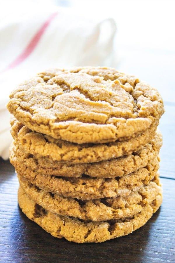 Grandma's ginger cookies stack