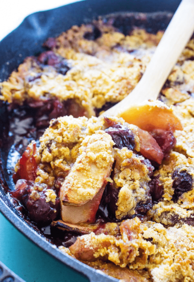 Best Ever Apple Cherry Crisp