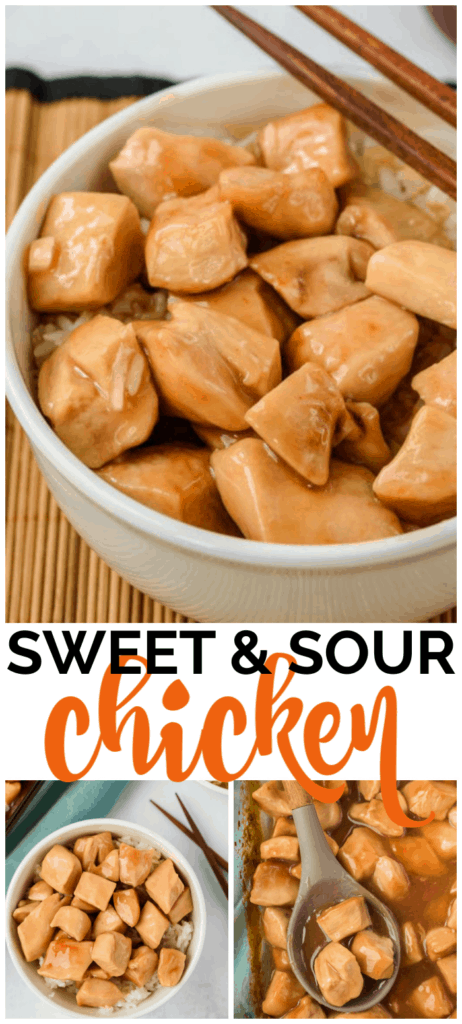 Baked Sweet & Sour Chicken long pin long pin