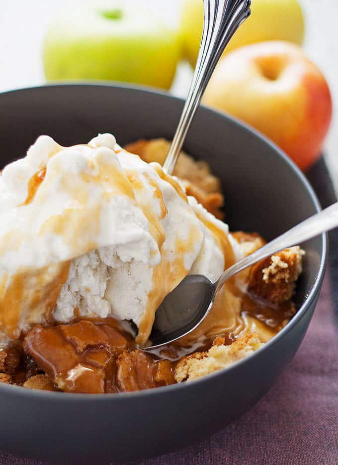 Apple Cake Sundae